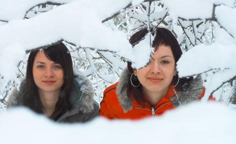 Фото девушек зимой
