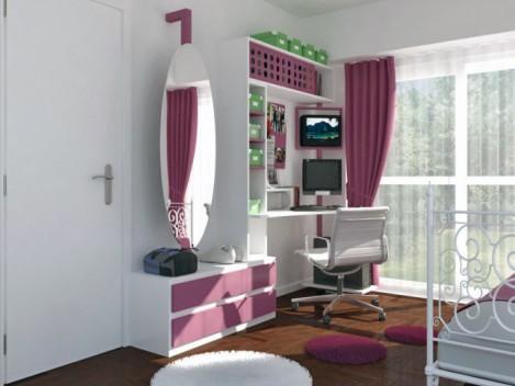 Интерьер детской комнаты для девочки-подростка