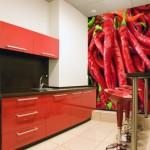 Фотообои на стену для кухни «Перец чили»