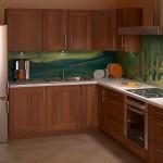 Фотообои на стену для кухни «Пейзаж»