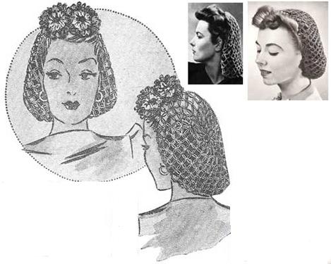Женственные прически - сетка для волос