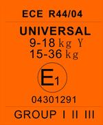 Стандарт для детского автокресла ECE R44/03(04)